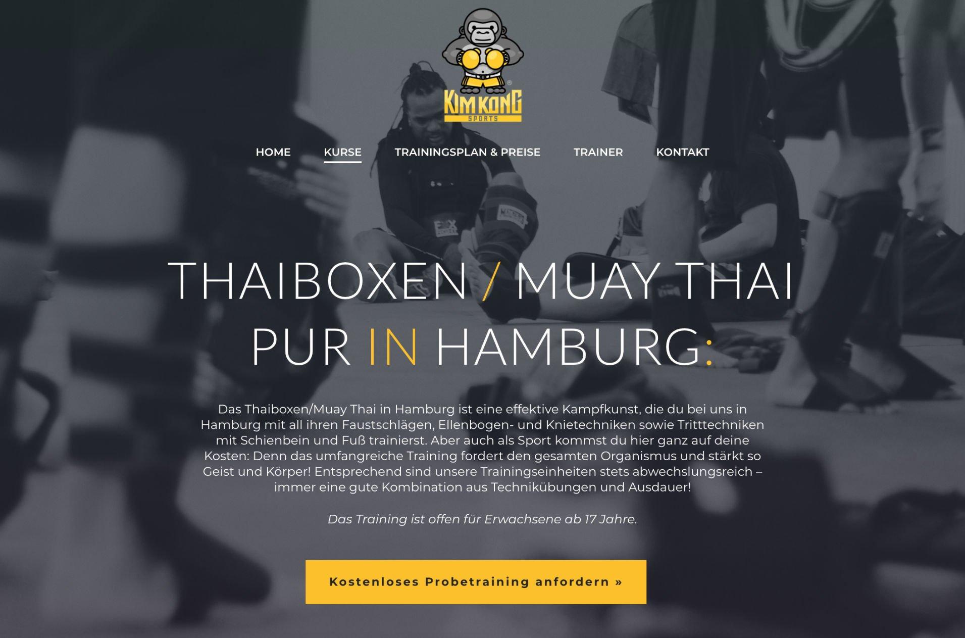 Referenz (SEO & Webdesign): KimKongSports.de