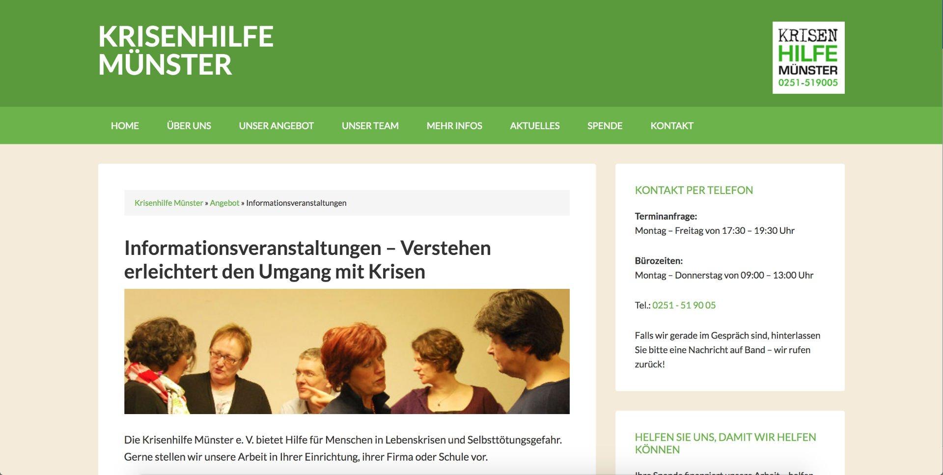 Referenz (Webdesign): krisenhilfe-muenster.de