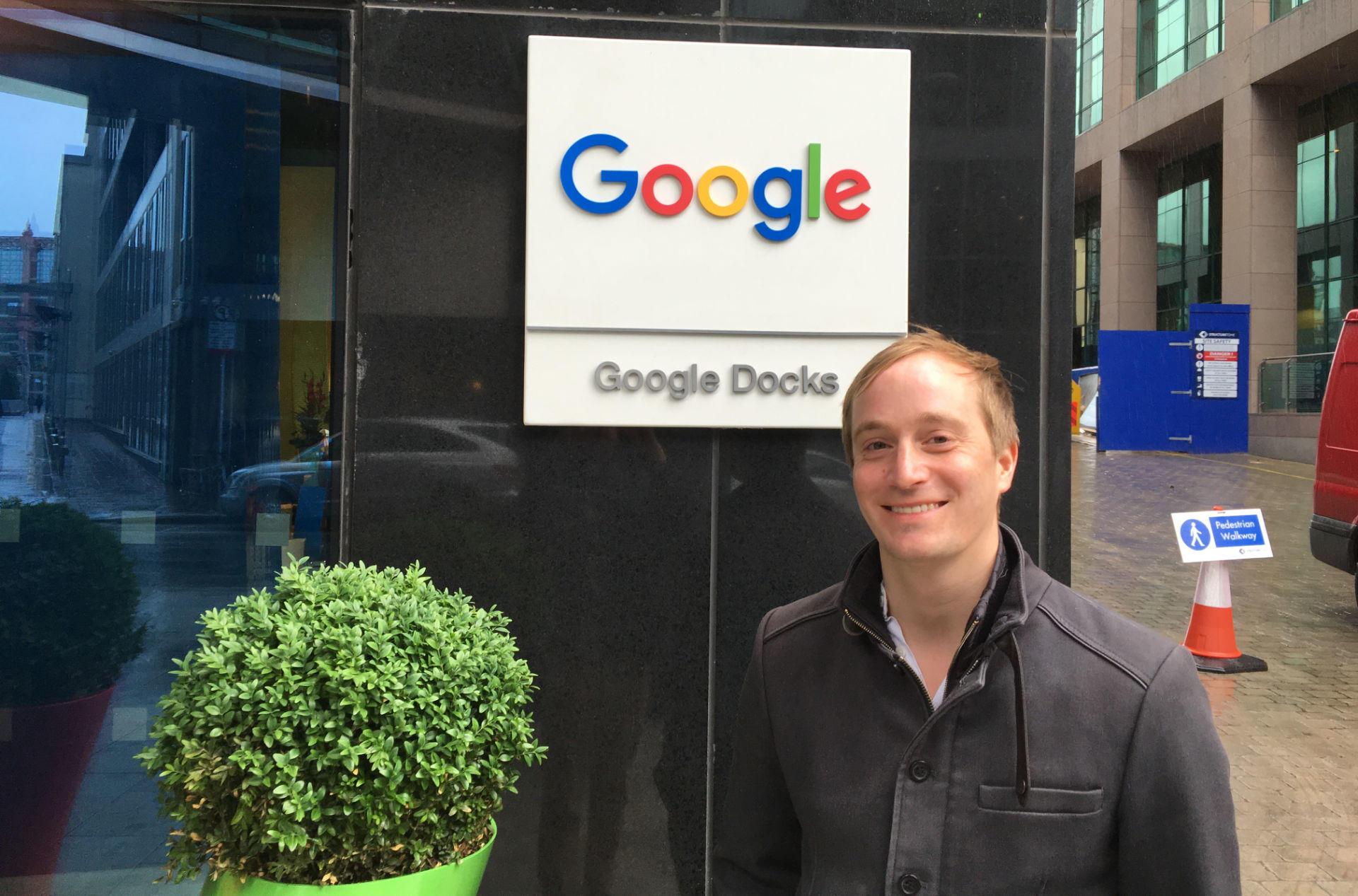 Besuch von SEO-Manager Ole Roloff bei Google
