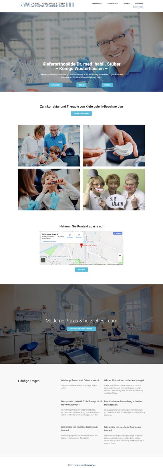 Webdesign für eine Kieferorthopädie