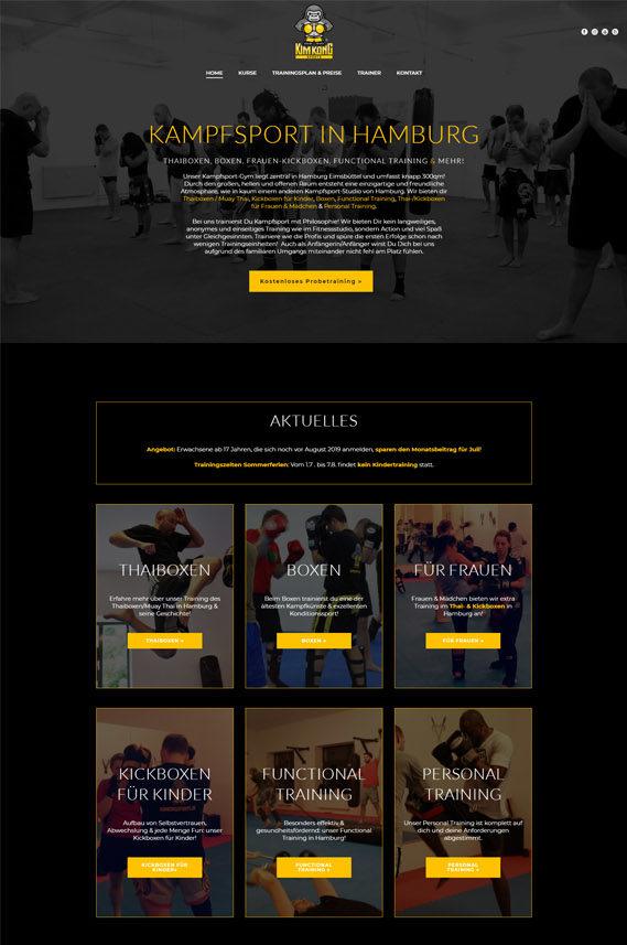 Webdesign fürKimKongSports