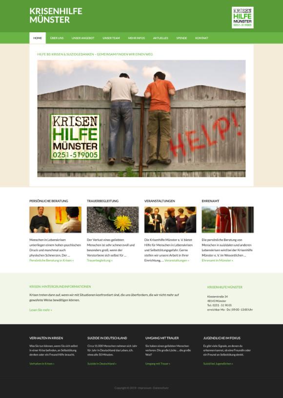 Webdesign für die Krisenhilfe