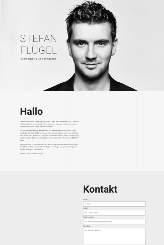 Webdesign für Stefan Flügel
