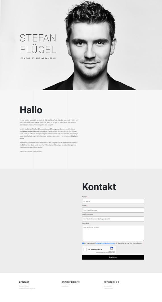 Webvisitenkarte für Stefan Flügel