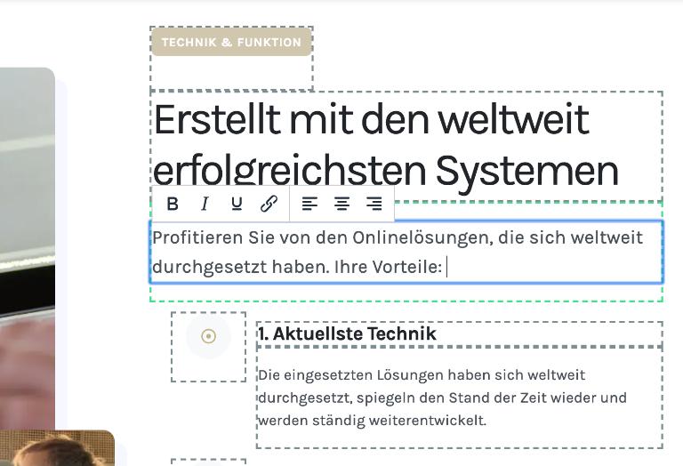 Inhalte auf der Webseite leicht ändern