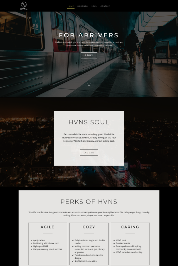 Webdesign-Referenz: HVNS