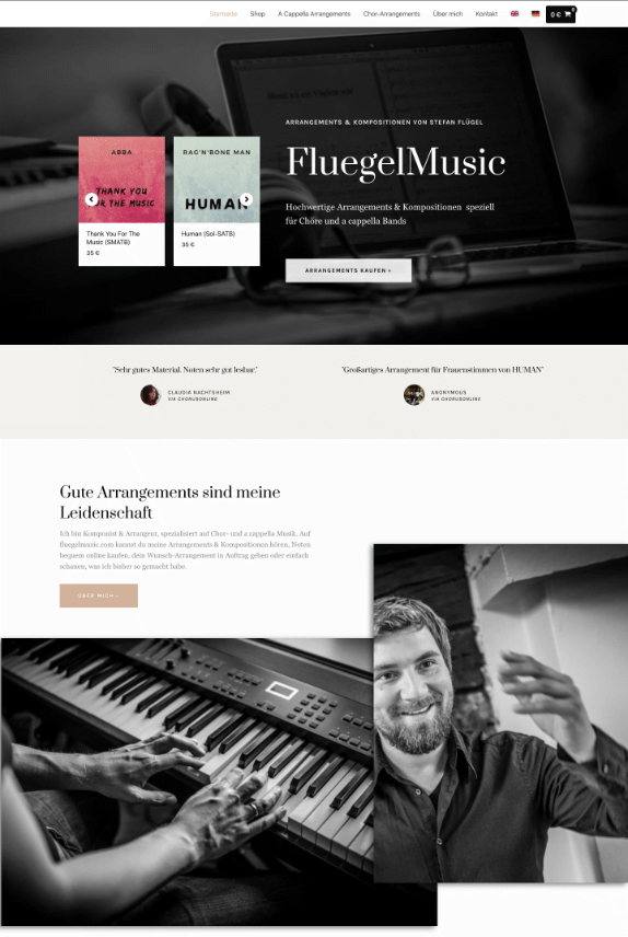 Webdesign-Referenz: FluegelMusic