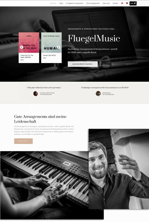 Webdesign-Referenz: FluegelMusic
