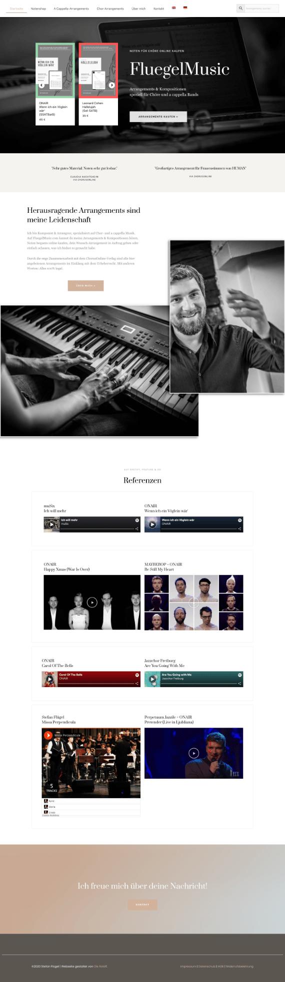 WordPress-Webdesign Referenz: Onlineshop Flügel Music