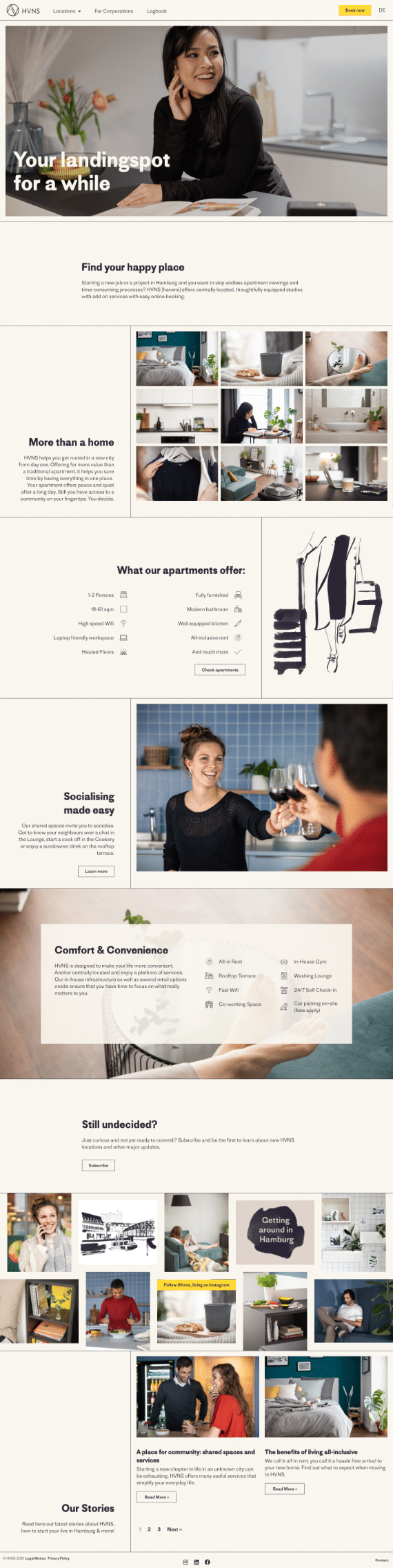 WordPress-Webdesign Referenz: Webseite von HVNS