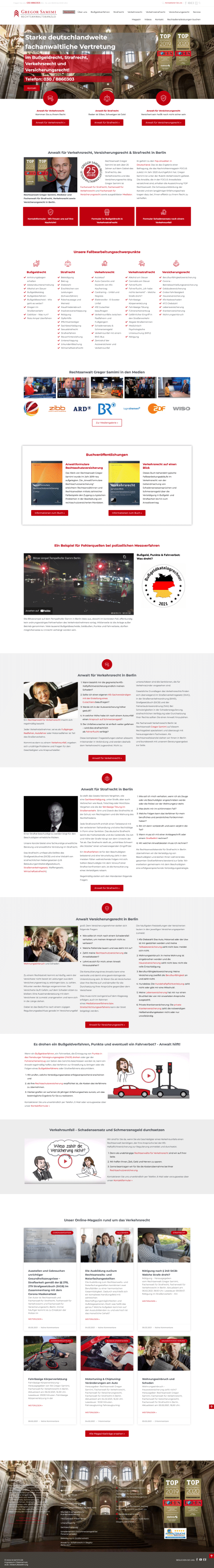WordPress-Webdesign Referenz: Webseite der Rechtsanwaltskanzlei Gregor Samimi