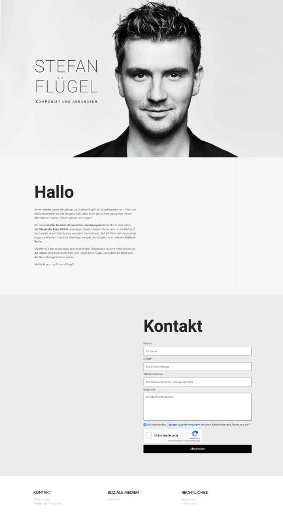 WordPress-Webdesign Referenz: Webseite von Stefan Flügel