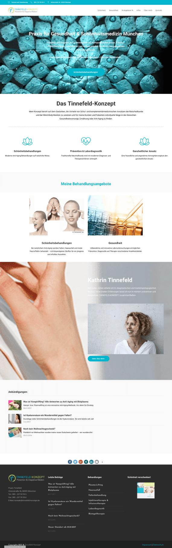 WordPress-Webdesign Referenz: Webseite von Tinnefeld-Konzept