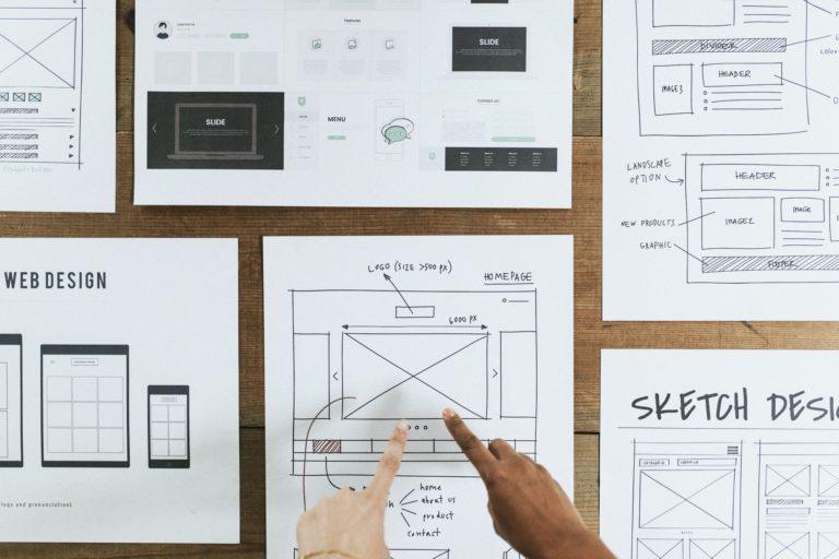 Screendesign für ein WordPress-Webdesign wird erstellt