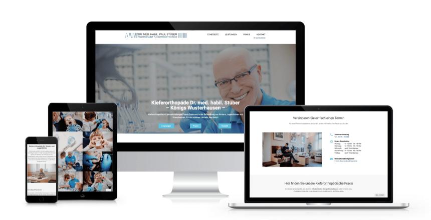 Webdesign mit Wordpress: Kieferorthopäde Dr. Stüber