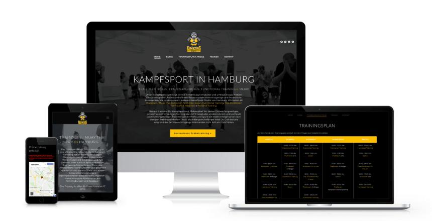 Webdesign mit Wordpress: KimKongSports