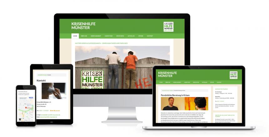 Webdesign mit Wordpress: Krisenhilfe Münster