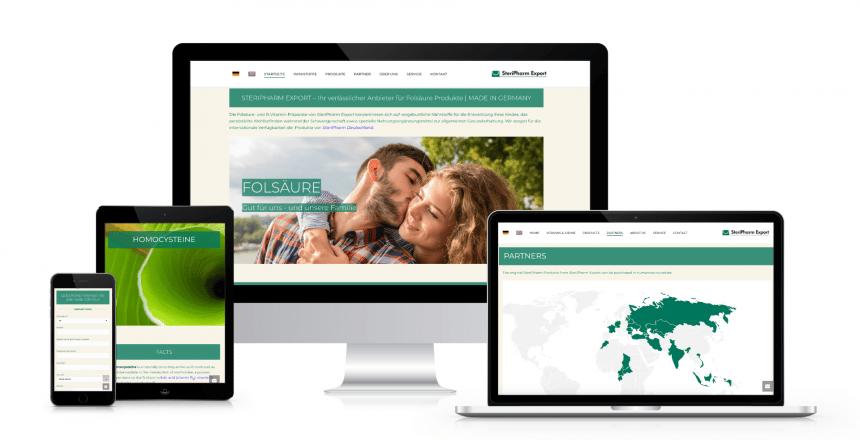 Webdesign mit Wordpress: SteriPharm Export